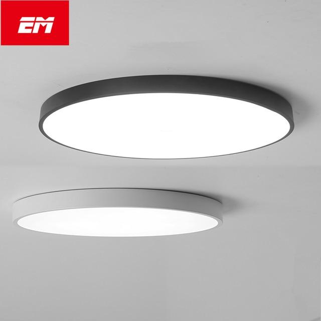 Moderne led plafond lampe ronde super mince 5 cm plafonnier pour chambre cuisine lampe int rieur for Plafonnier design pour chambre
