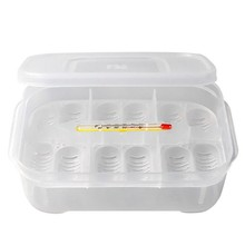 12 Holes Terrarium for reptiles Transparent Plastic Box Insect Reptile Transport Breeding Live Food Feeding Box with Thermometer