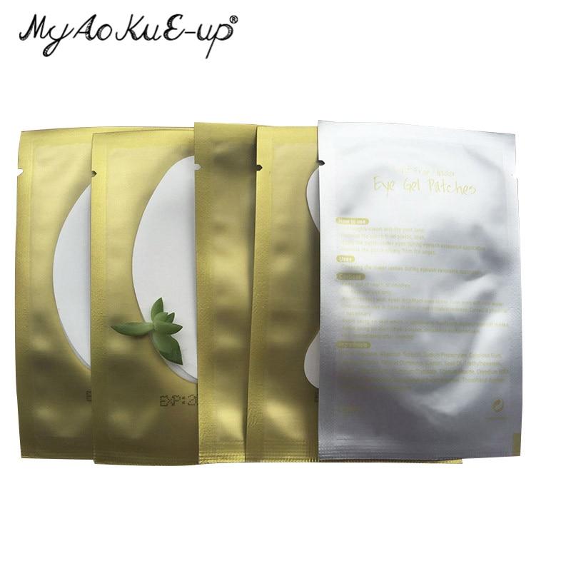 500pairs/pack Paper Patches Eyelash Under Eye Pads Lash Eyelash Extension Paper Patches Eye Tips Sticker Wraps Make Up Tools
