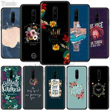Pattern flower Bible verse Black Soft Case for Oneplus 7 Pro 7 6T 6 Silicone TPU Phone Cases Cover Coque Shell