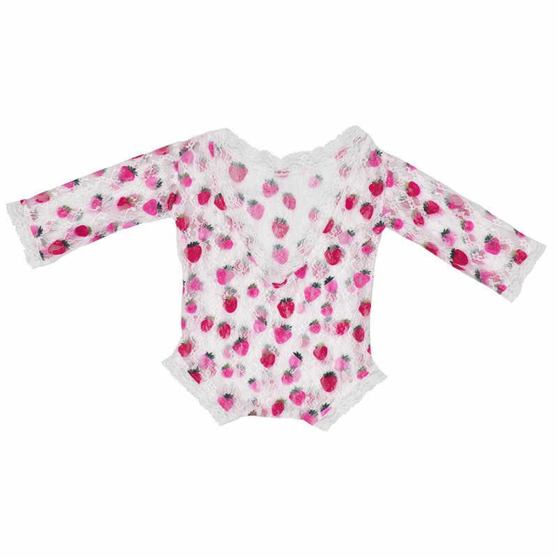 Ylsteed новорожденных реквизит для фотосъемки Детские цветочный кружевной комбинезон с открытой спиной комбинезон для фотосъемки новорожденных Одежда для маленьких девочек