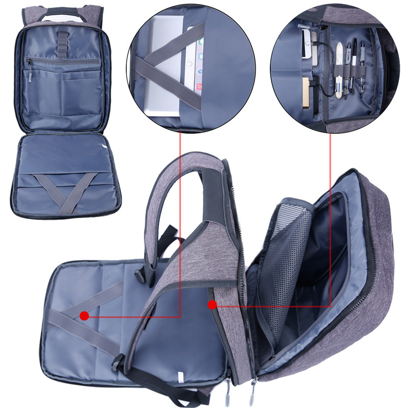 Mini Backpack Men Anti Theft Laptop Bagpack 15.6 Inches Computer Back Pack Bag Removable Large Teenager Boys Male Travel Daypack