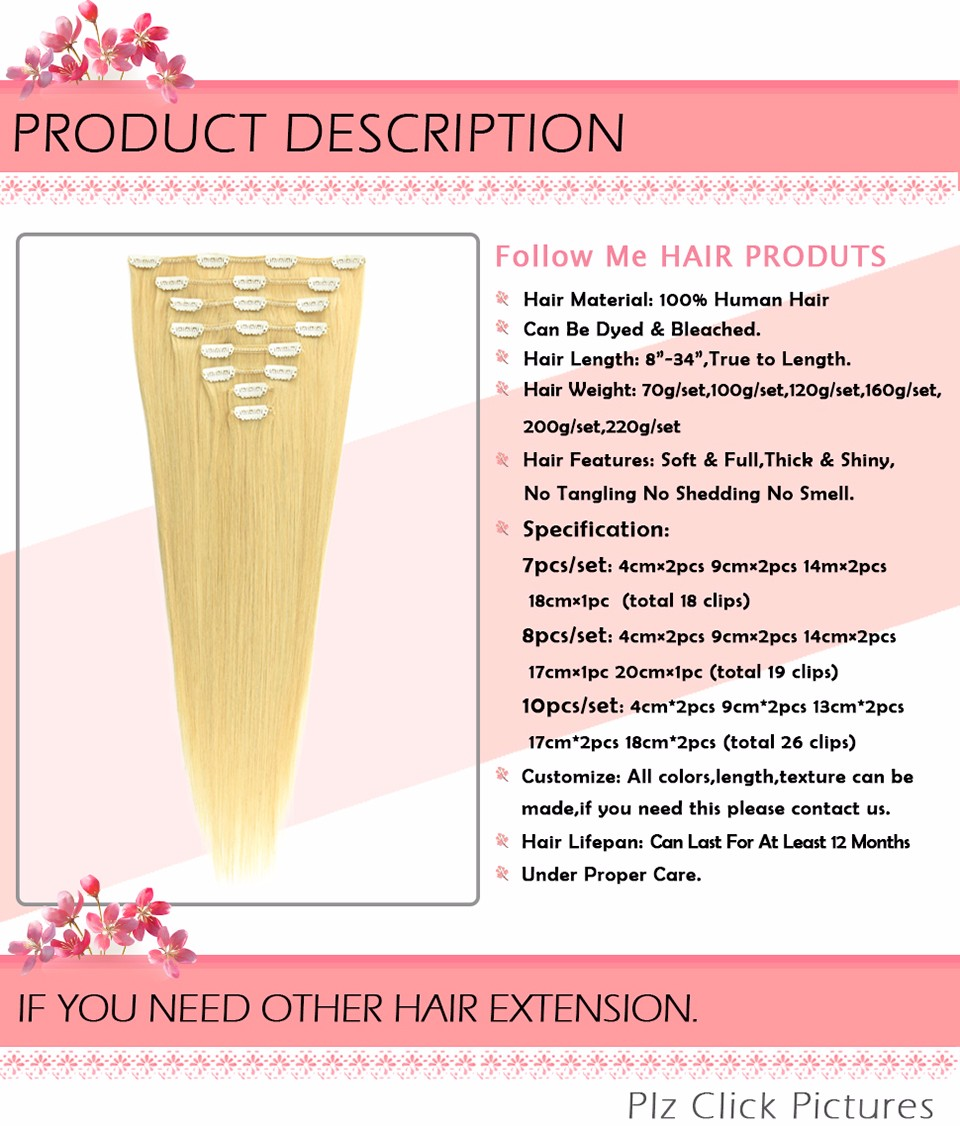 clip in human hair extensions (20)