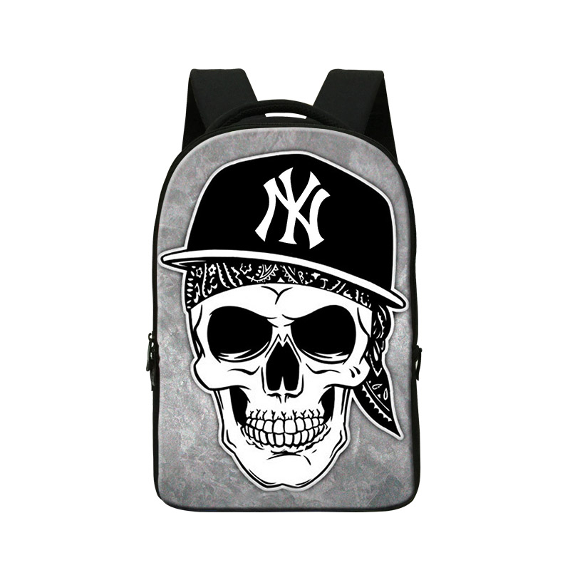 Skull Printing Laptop Backpacks for Men Best School Bookbags for College Students Boys Cool Mochilas Personalized Back Pack girl cute candy printing school bookbags for girls college students illustration backpack childrens 3d animal back pack for teenager