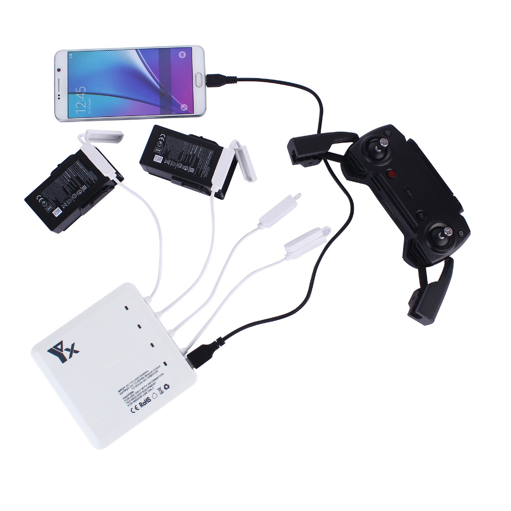 6 in1 Universal Intelligent Battery Charger Charging Hub for DJI Mavic Air Drone Multi RC Chargers
