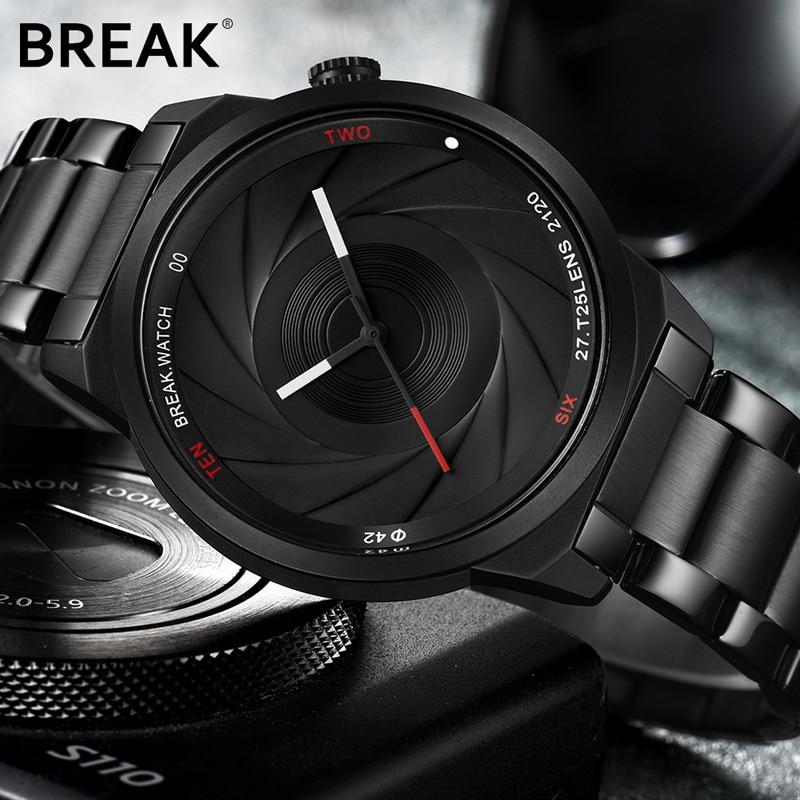 BRECHEN Fotograf Serie Einzigartige Kamera Stil edelstahl Armband Männer Frauen Casual Mode Sport Quarz Moderne Geschenk Handgelenk Uhren