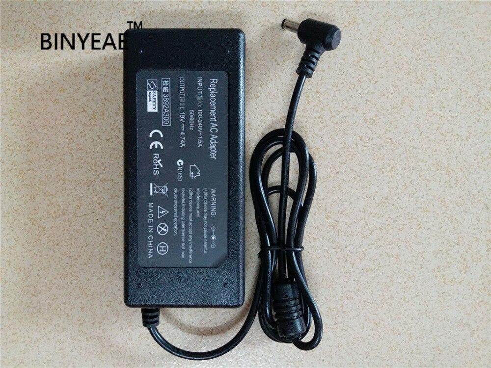 19 V 4.74A 90 W Универсальный переменный ток Питание адаптер Зарядное устройство для ASUS A43 A43BY A43JC A43JP A43SJ K43 A53 X84 F83 X55 X80