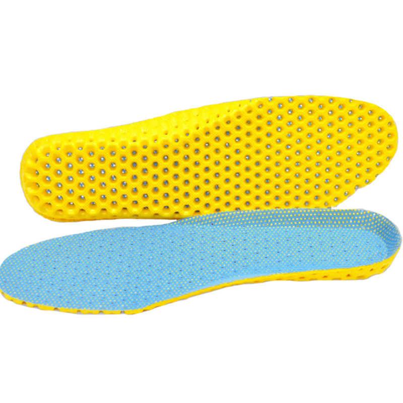 Air breathable insoles สำหรับรองเท้ากีฬารองเท้าวิ่งสำหรับฟุตระงับกลิ่นกายรองเท้า pad anti slip cushion