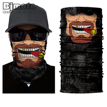 2017 New Skull Mouth Windproof Mask Ski Caps Bike Motorcycle Balaclavas Scarf Ski Mask Bandana Balaclava Hunting Fishing
