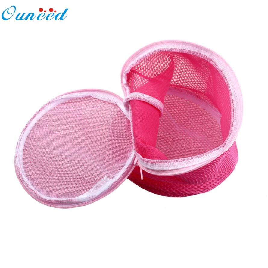 New Hot High Practicality Polyester Women Bra Laundry Lingerie Washing Hosiery Saver Protect Mesh Round Bag 32