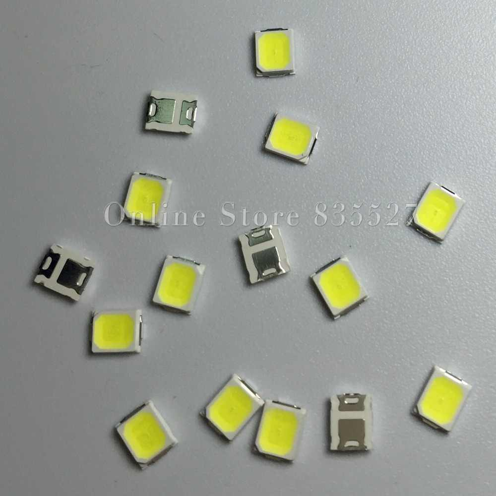 100 sztuk/partia LED koraliki do lampy natura biały/ciepły biały/zimny biały SMD 2835 0.5 W 55-60LM Super podkreślić światła dioda emitująca światło