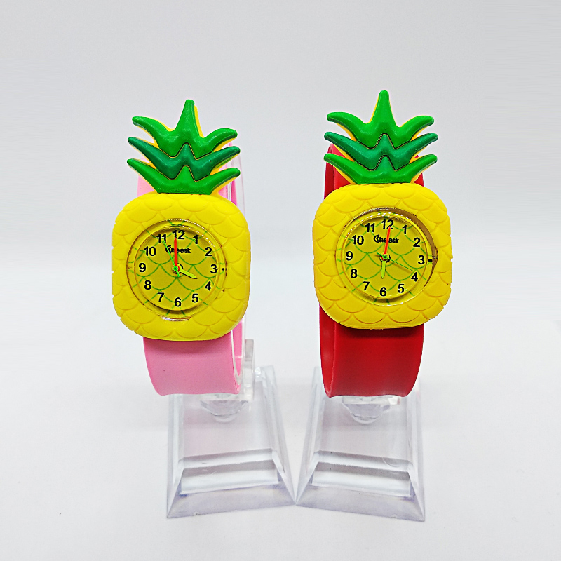 2019 Cartoon Fruit Pineapple Kids Watches Fashion Children Boys Girl Baby Kid Students Sports Silicone Watch Analog Wristwatches