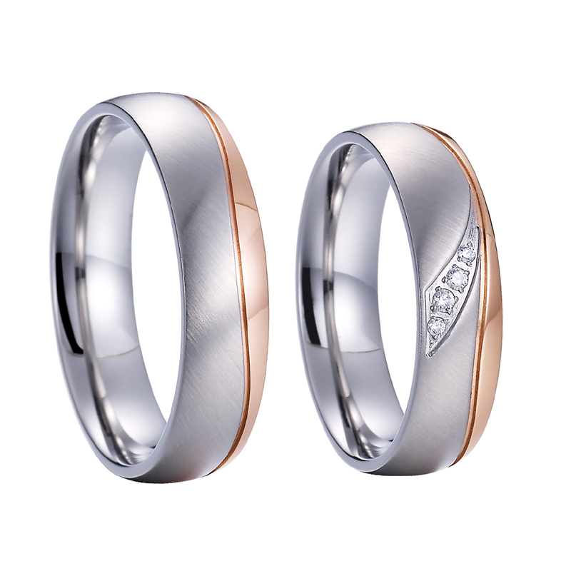 Stainless Steel Love Band Finger Rings Titanium Best Gift Gold Silver Rosegold