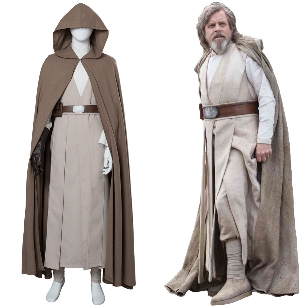 Star Wars 8 The Last Jedi Luke Skywalker Cosplay Costume Ver.2 Full Set