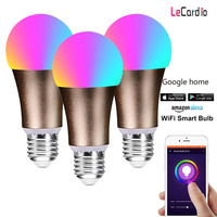 3PC Pack sell RGBW Smart WIFI Led Light Bulb 7W E27 B22 Smart Home Lamp Multi Color Compatible with Alexa google Home