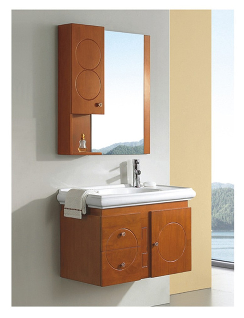 Bon Wrigley Bathroom Wash Basins Wood Bathroom Counter, Single Bowl Washbasin  Cabinet Mirror Bathroom Cabinet Furniture