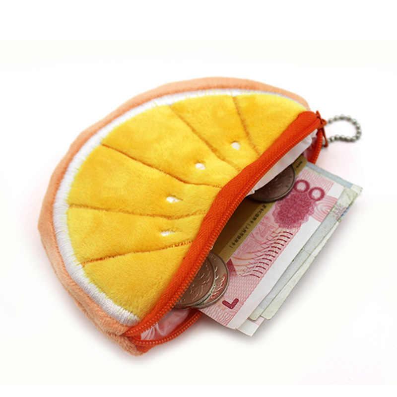 YIYOHI Kawaii Frutas semicírculo Mão Zipper Bolsa Da Moeda Da Carteira Caso Bolsa de Saco de Mulheres Senhora Sacos Bolsa de Beleza Suporte Do Saco da Bolsa