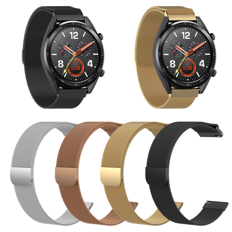 Replacement Wristband Smart Accessories For Huawei Glory Magic/watch Gt 46mm /TicWatch Pro Magnetic Watch Bead Steel Strap 1eh