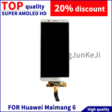 For Huawei Maimang 6 LCD Display Touch Screen Digitizer Assembly 100% Test with Free Tools  White Mobile Screen все цены