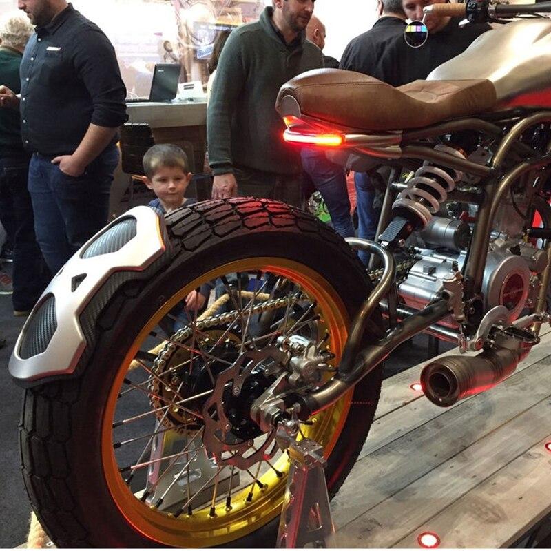 LED Brems Blinker Lizenz Platte Lichter Streifen Schwanz Bremse Stop Beleuchtung Für Bobber Cafe Racer ATV Motorrad Licht Montage