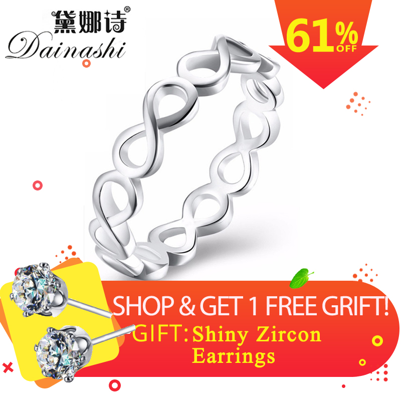 Dainashi Cross Surround 925 Silver Superior Quality Hollowing Out Rings Sexy Wedding Finger Rings Jewelry For Fashion Women Gift