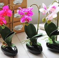 28cm Height Butterfly Orchid Floral artificial flower Arrangement Decorative Flowers & Wreaths home decoration Sent by Random