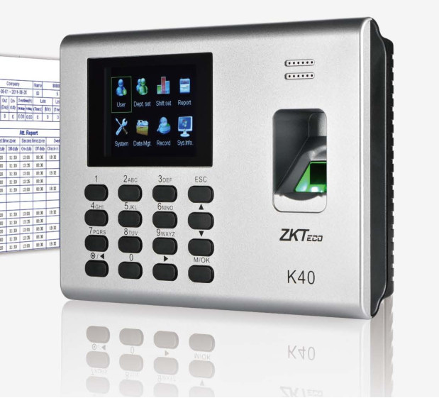 K40/DS310 Fingerprint time recorder with access control high performance time attendance system best seller gprs real time fingerprint access guard tour system