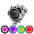 1pcs Waterproof 125W Cree Chip U7 LED Car Motorcycle Headlight Led DRL Fog Light Spot Light Lamp 4 Colors Angle Eye Light