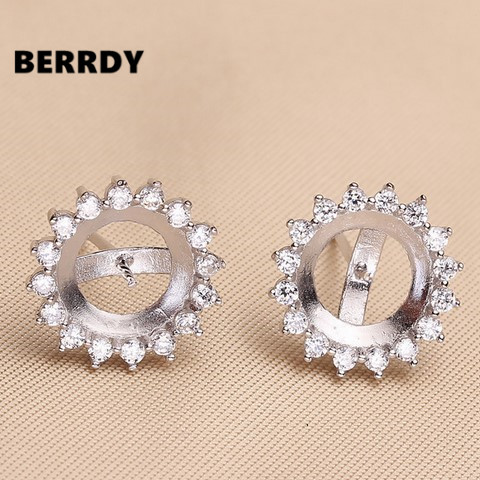Hot Fashion Pearl Earrings Mountings Findings Stud Settings Jewelry Parts Ings In Components From