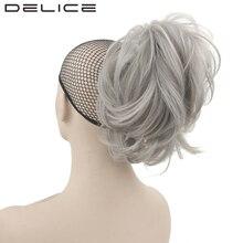 [Delice] 14 дюймов 2 стиля серый натуральный волны коготь короткий хвост клип в термостойкость Синтетические пряди для наращивания волос для Для женщин