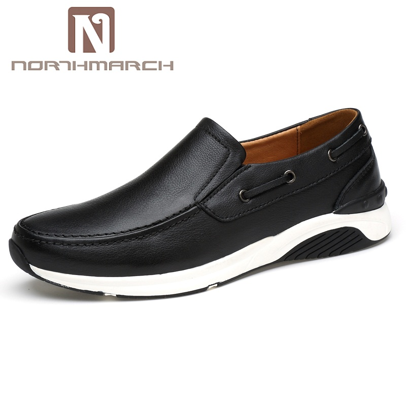 NORTHMARCH Classic Spring Summer Moccasins Men Loafers Shoes Male Flats Genuine Leather Casual Driving Shoes Mens Footwear men casual shoes genuine leather fashion moccasins men flats loafers soft bottom leisure driving shoes male footwear rmc 411