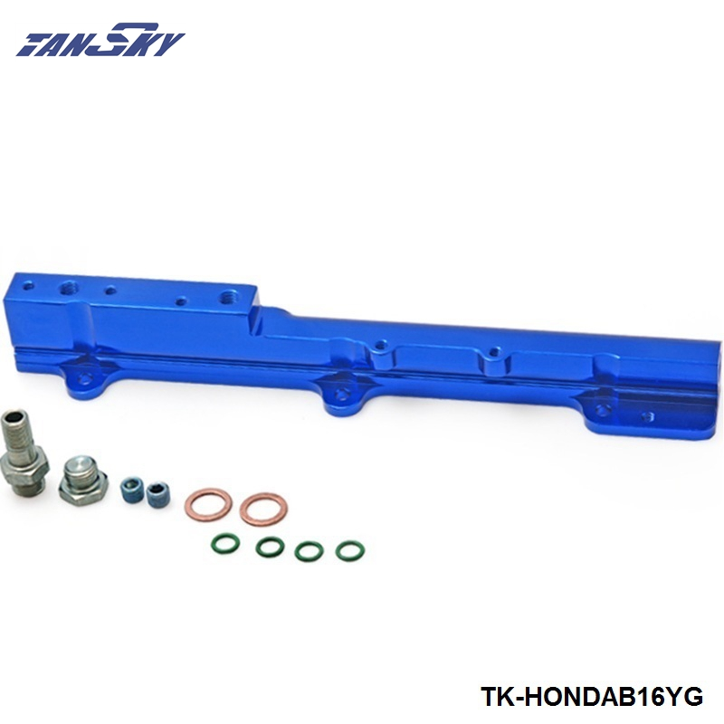 Aluminum Fuel Rail Fit For <font><b>Honda</b></font> <font><b>Civic</b></font> Si B16, <font><b>B16a</b></font>, B16a2 TK-HONDAB16YG image