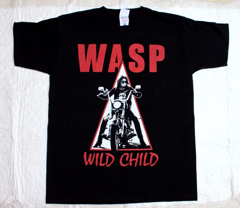 W.A.S.P.Wild Child 85 Heavy Metal Band Wasp Twisted Sister New Black T-Shirt New Fashion Cool Casual T Shirts