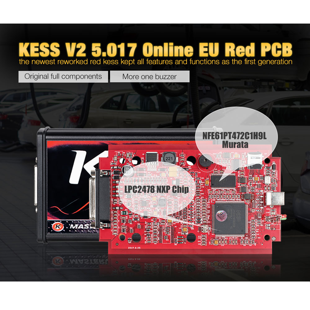 Image 2 - KESS V2 V2.53 V5.017 EU Red ECM Titanium KTAG V2.25 V7.020 4 LED  Online Master Version BDM Frame fgtech ECU OBD Truck Programmerkess  v2ecu programerecu programming tool -