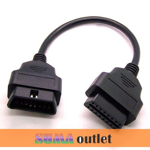 16 Pin OBD 2 Male To Female Diagnostic Adapter Extension Cable