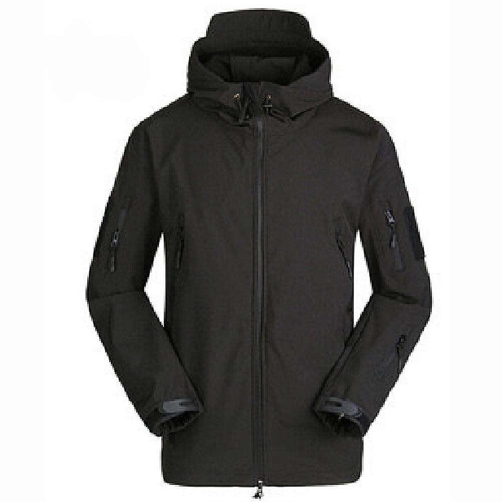 New Sale Men Outdoor Jacket Waterproof Coat Shark Skin Soft Shell Hoodie Hunting Duty Black S M L XL XXL женское платье brand new 2015 vestidos 5xl s m l xl xxl xxxl 4xl 5xl