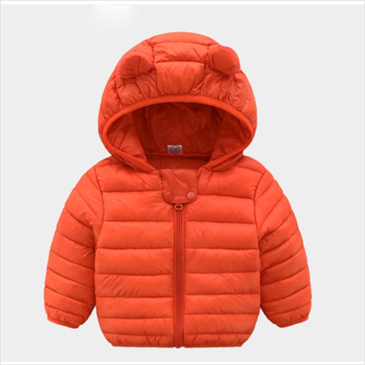 Fanfiluca Toddler Coat Black Hooded Warm Winter Coat Girls Cotton Waistcoat Infant For Baby Boy Jacket Kids Parka Outerwear004