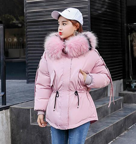 Warm Teenager Girls Winter Jacket 2018 New Children Coat Thick Big Fur Hooded Down Cotton Padded Kids Parka textured padded bikini