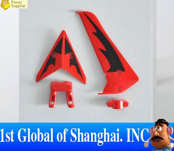 Free shipping S107G - 03 Tail Decoration (RED) Spare Parts For Syma S107G Mini RC Helicopter