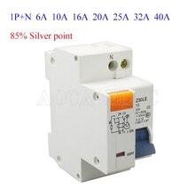 DZ30LE-C6A 10A 16A 20A 25A 32A 40A 50A 63A Rcbo 1 P + N электрических утечек Портативный остаточного защита текущее устройство 400 V