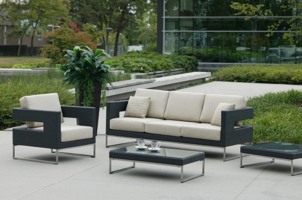 2017 all weather garden furniture outdoor wicker patio 4 pc sofa set