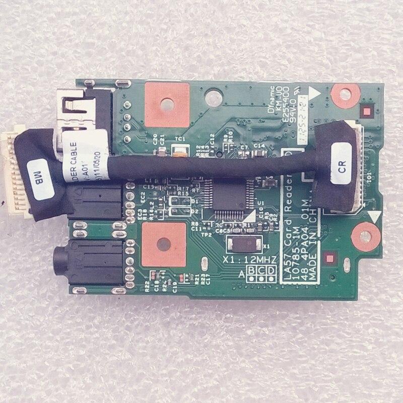New Original LB575 CARD READER BOARD W/CABLE For Lenovo V570 B570 B570E B575 Z570 Z575 Series,P/N 48.4PA04.01 55.4PN02.001 new original audio sd card reader board w cable for lenovo g480 g485 series p n ls 7986p nbx00015700