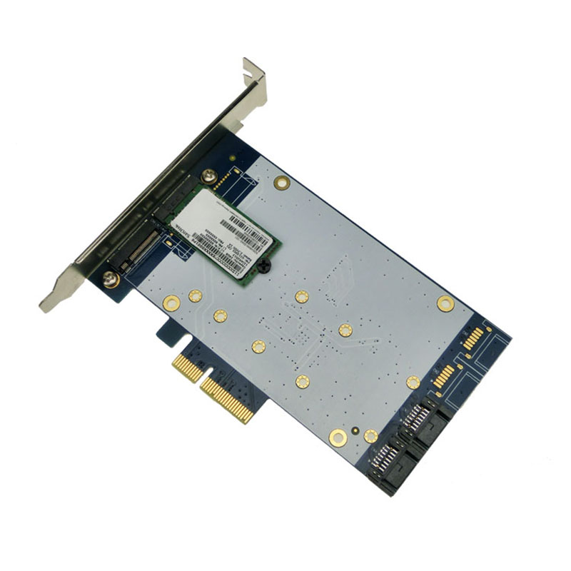 цена на Desktop PCI-e to NGFF M.2 adapter SSD SATA3.0 expansion card SSHD MARVELL 88SE9230