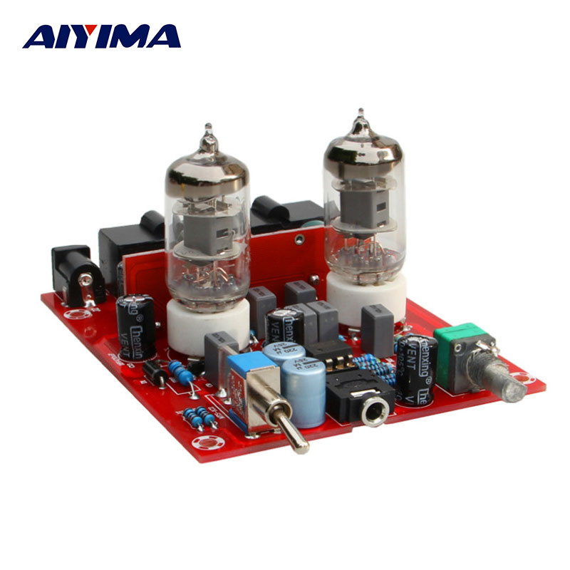Aiyima Tube Amplifiers Audio Board Amplificador DIY Kits Fever Bile Pre-amplifier Hifi 6J1 tube Amp Separe Parts aiyima tube amplifier audio board amplificador 6j8 two channel preamplifier bile preamp 6j8 tube amp