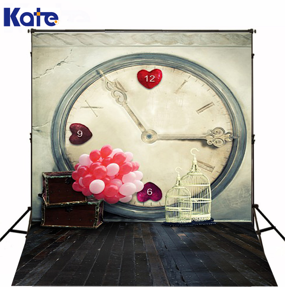 Kate Background Balloon Watch Box Photography Backdrops No Wrinkles Wood Floor Photography Backdrop 3401 Lk 5feet 6 5feet background snow housing balloon photography backdropsvinyl photography backdrop 3447 lk