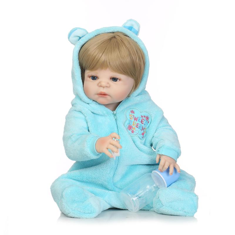 NPK Girl Boy Pacifier model Reborn babydoll 57cm cute babies Realistic doll toy can enter water bath doll toys bebe real reborn цена