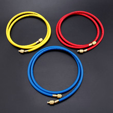 цена на 3Pcs 300PSI 600PSI Charging Hoses 60 1/4 SAE Shut Valve For AC Refrigerant R134A R12 R22 R502 Air-conditioning Valve Hose Kit