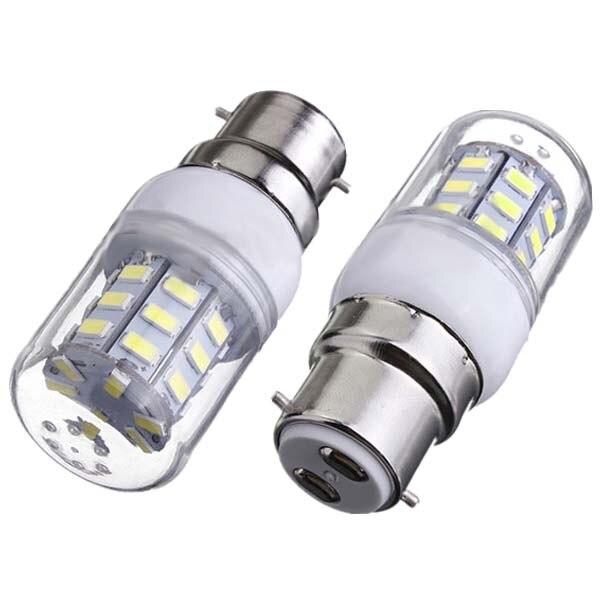 12 Pcs B22 Corn Bulb High Power LED 5730 SMD Light Lamp Energy Saving - Pure White best price led lamp bulb e27 e14 b22 12w 5733 smd 136 led corn light bulb 220v 1500lm energy saving chandelier lights lighting