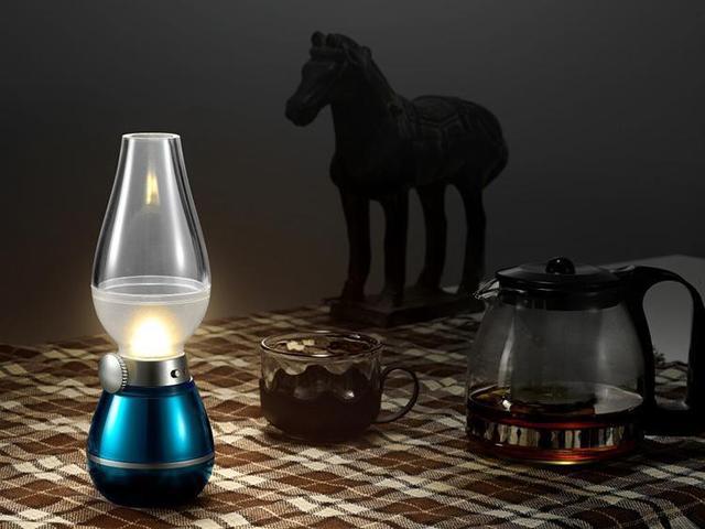 Retro Lampen Led : Usb rechargeable blow sensor led vintage kerosene lamp retro dimming