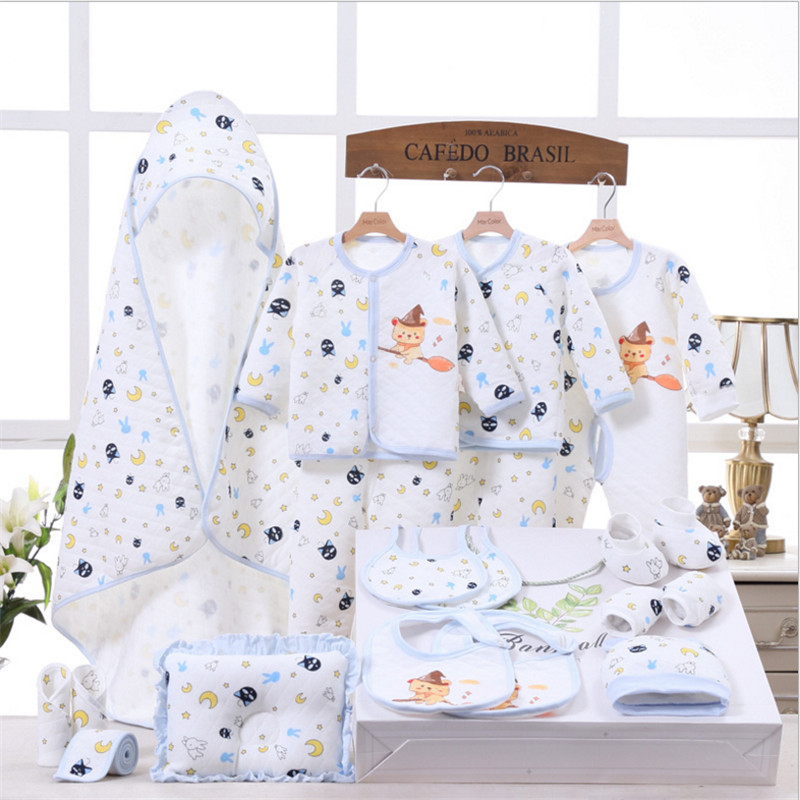 Banjvall Baby Clothes Newborn Baby Clothing Set 100% Cotton Underwear Suits Toddler Gift Set For Autumn & Winter 14pcs & 19pcs